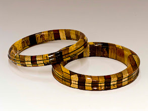 "Photo: Jerry Mauch - Segmented Bracelets - 3"" - Various scrap pieces"