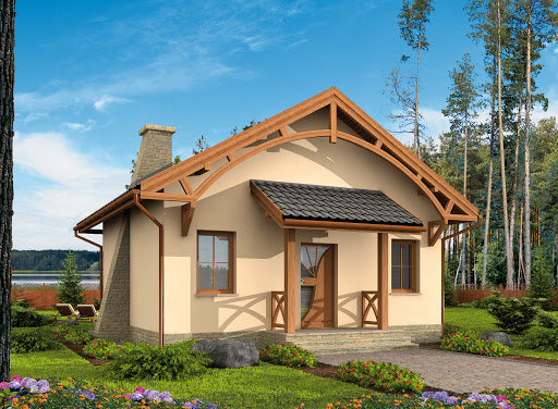 projekt La Lora szkielet drewniany dom letniskowy
