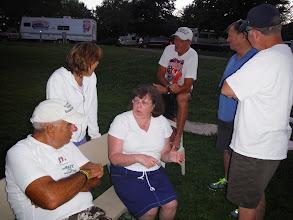 Photo: Day 53 August 10 Bennington To Brattleboro VT Talking with campers at KOA ice cream social