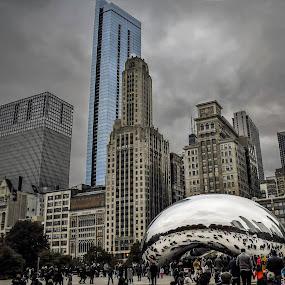 Cloud Gate park by Dan Miller - Buildings & Architecture Office Buildings & Hotels (  )