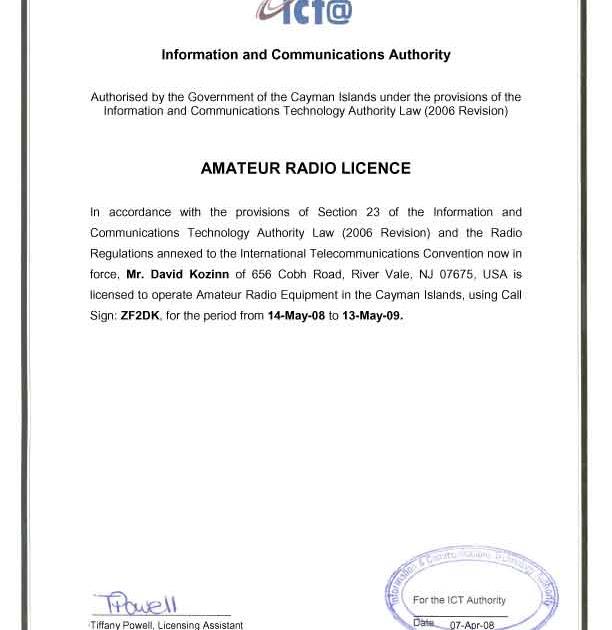 Ham Radio Licensing Cayman Islands