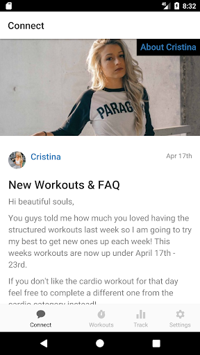 Cristina Capron Fitness screenshot 1