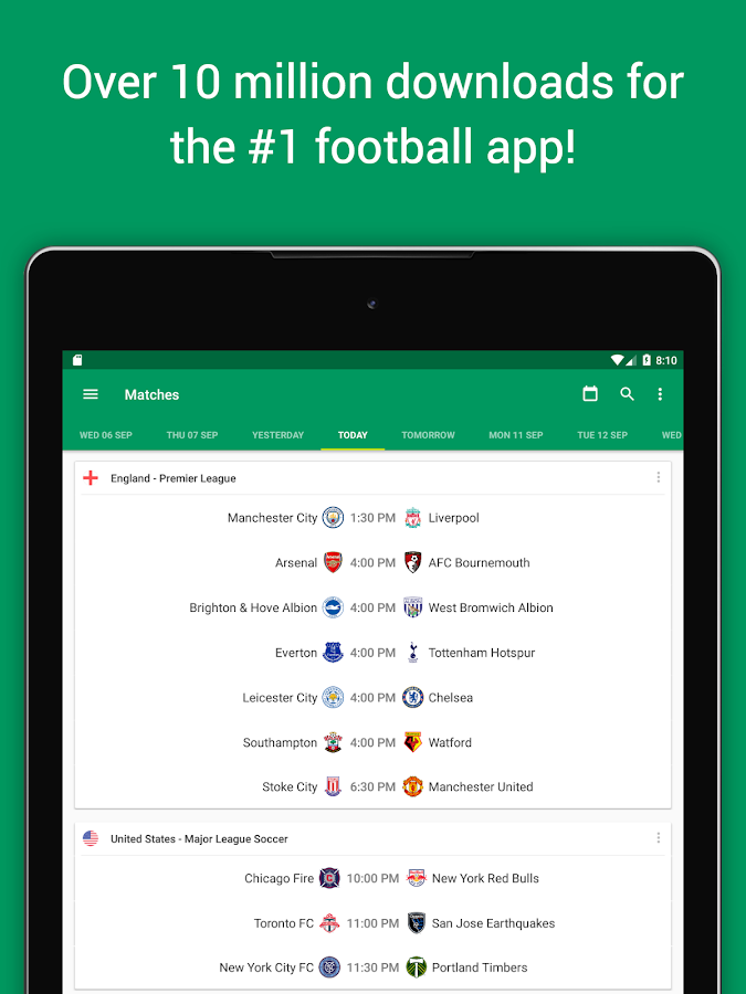Screenshots of Soccer Scores - FotMob for iPhone