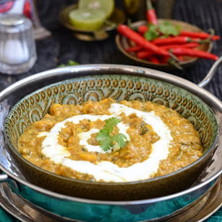 Methi Makai Malai / Fenugreek and Corn in a Creamy Gravy