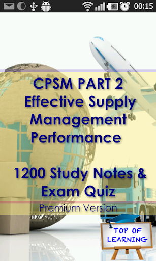 CPSM P2 Supply Management Exam