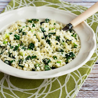 The Best Easy Cauliflower Rice with Garlic and Green Onion