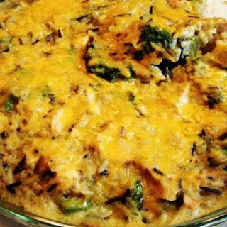 Turkey, Broccoli & Wild Rice Casserole.