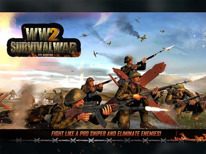 WW2 Survival War Prisoner : FPS Shooting Game Android 13