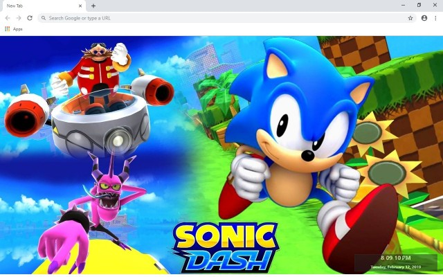Sonic Dash New Tab & Wallpapers Collection