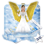 Beautiful Golden 3D Holly Angel Theme Icon