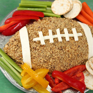 Cheddar-Horseradish Cheese Football.