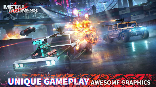 METAL MADNESS PvP: Car Shooter & Twisted Action MOD (Damage) 2
