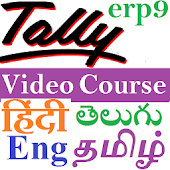 Learn Tally Erp9 app - in Hindi  Eng Tamil Telugu