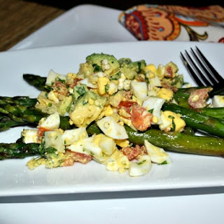 Roasted Asparagus with Egg Salad
