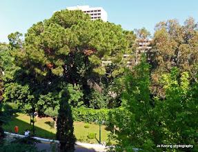 Photo: Ixia. Uitzicht vanaf ons balkon van hotel Dionysos.