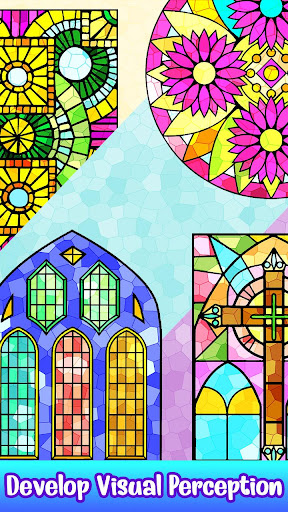 Stained Glass Color by Number - Adult Paint Book ss2