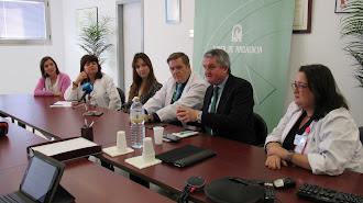 Juan de la Cruz Belmonte, delegado de Salud y Familias, durante la segunda sesión de la Escuela de Pacientes.