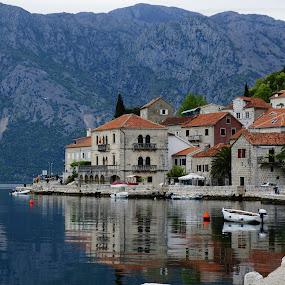 Kotor, Montenegro by Debra Graham - City,  Street & Park  Vistas ( montenegro, mountains and lake, kotor montenegro )