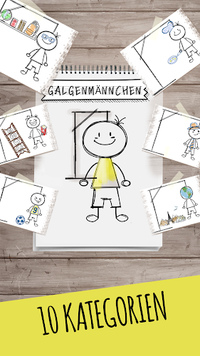 Galgenmännchen Android App Screenshot