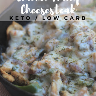 Chicken Philly Cheesesteak {keto/low carb}.