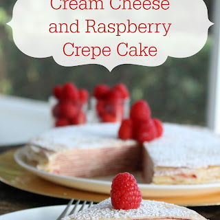 Cream Cheese and Raspberry Crepe Cake Recipe