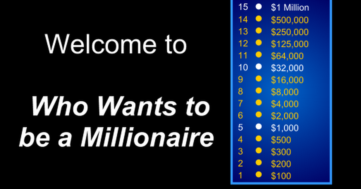 Who wants to be a millionaire (i).ppt - Google Slides