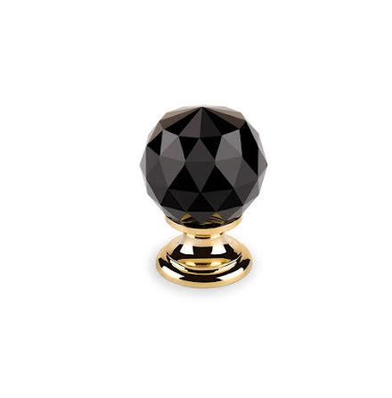 Knopp Svart Diamant guld/mässing