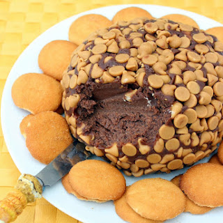 Chocolate Peanut Butter Cake Cheese Ball.