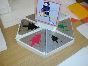 Photo: Short Christmas project ..... boxed candles; card box with vacuum formed insert. Ignore the CDC cover on top ..... part of another project.