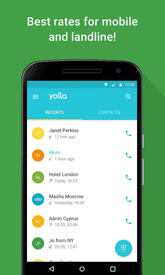 Screenshots of Yolla - International Calling for iPhone