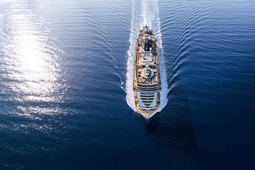 msc-seaside-aerial.jpg - The 4,132-passenger MSC Seaside features sailings in and around the Mediterranean.