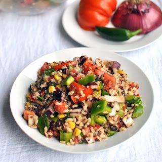 Summer Healthy Grain Salad.