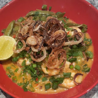 Coconut Noodle Soup with Crispy Fried Shallots