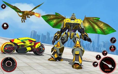Flying Fire Dragon Robot Transform Bike Robot Game 5