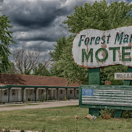 No Room  by Jeff Brown - Buildings & Architecture Decaying & Abandoned ( decaying, history, abandoned, motel )