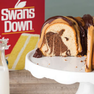 Peanut Butter Chocolate Marble Pound Cake.