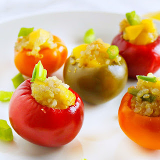 Mango Quinoa Stuffed Peppers.