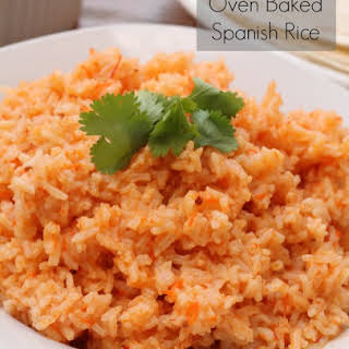 Oven Baked Spanish Rice.