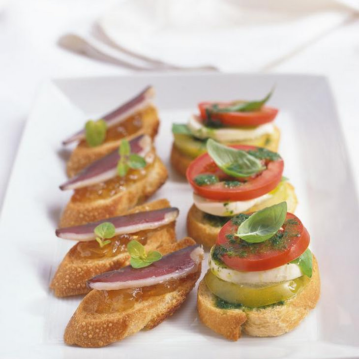 Duck Breast and Caramelized Onion Jam Crostini