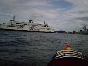 Photo: BC ferry docking near Jack Point.