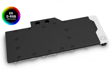 EK vannblokk for skjermkort, EK-Quantum Vector XC3 RTX 3080/3090 D-RGB - Nickel+Acetal