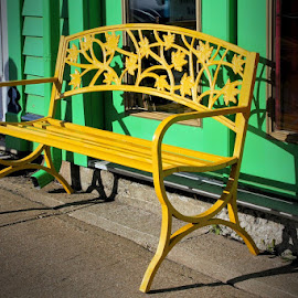 Yellow Bench by Lena Arkell - Artistic Objects Furniture (  )