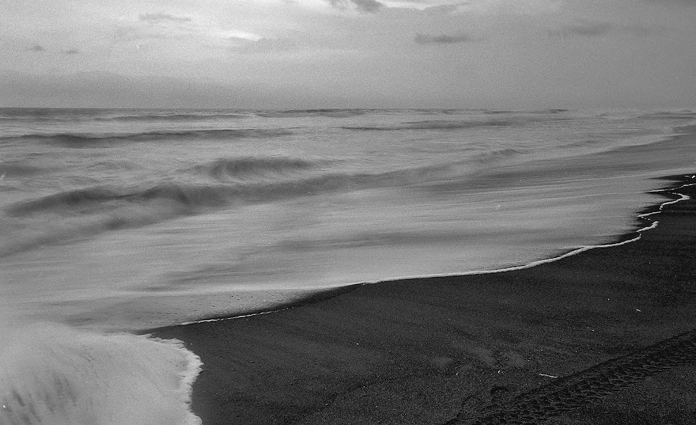 Depok Beach in Kodak 100 TMax BW film