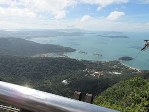 Photo: From top of cable car ;Pantai Cenang beach in distance