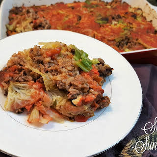 Un-Stuffed Cabbage Casserole.