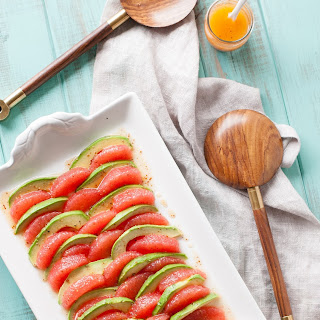 Grapefruit Avocado Salad w/ Mustard Honey Vinaigrette