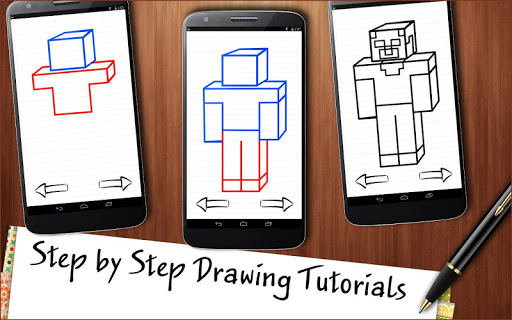 Draw Minecraft app (apk) free download for Android/PC/Windows screenshot