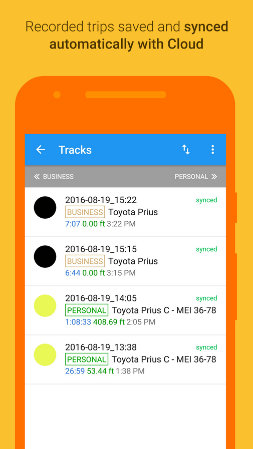 Mileage Log GPS Tracker- screenshot