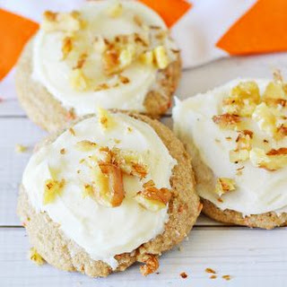 Carrot Cake Mix Cookies with Cream Cheese Frosting