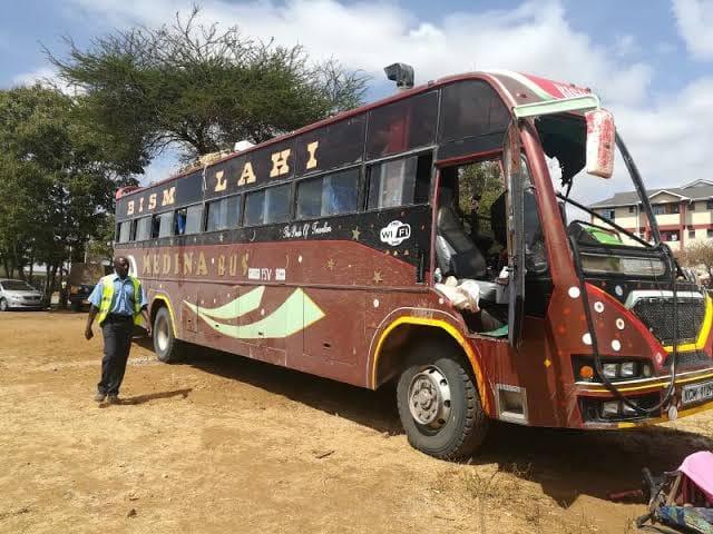 The Medina bus attacked by al Shabaab on December 6